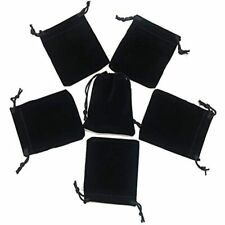 Little Velvet Drawstring Pouches 20pcs Black Cloth Bags For Jewelry Small Gift