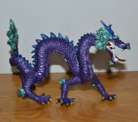 """PLASTOY CHINESE DRAGON FIGURINE ACTION FIGURE MONSTER TOY 7"""" PURPLE IMPERIAL"""