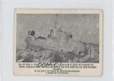 1966 Somportex Thunderbirds Small #61 WN1 Nuclear Powered Atom-Sub Card 0s4