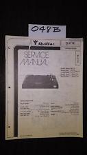 Quasar CL37YE service manual stereo turntable record player original repair book
