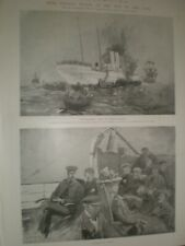 Redver Buller on SS Dunottar Castle  on way South Africa at Madeira 1899 prints