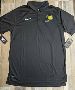 New Men's Indiana Pacers NIKE Dri-Fit Polo Shirt Sz. LARGE TALL 877624 NWT