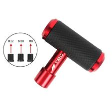 TRD Red Leather Car Shift Knob Aircraft Joystick Transmission Racing Gear