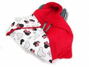 Universale Einschlagdecke Fußsack für Babyschale Autokindersitz Buggy 90x90 cm
