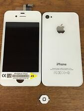 Genuine Quality Replacement Lcd Screen Back Glass For Original iPhone 4s White