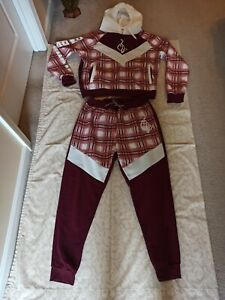Women's Baby Phat Cropped Track Suit Jacket And Pants Set Size 2X