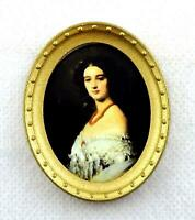 Pair Of Oval Framed Pictures Of A Lady /& Gent Dolls House 12th Scale