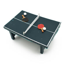 75*50mm Mini Ping-pong Table & Table Tennis Bats  Dollhouse Furniture Toy Decor
