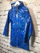 Topshop Holographic Blue Raincoat