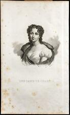 Portrait (1835) - Marie Antoinette Joséphine - Une Dame de Charité - Gravure