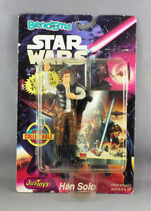 STAR WARS JUSTOYS BEND-EMS 7-Inch  HAN SOLO FIGURE VERSION 2 - NEW/SEALED