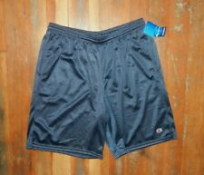 CHAMPION Navy Blue ATHLETIC SHORTS Summer Running Gym Soccer Sz Men's LARGE New!
