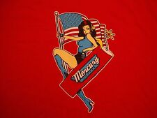 MERCURY LOUNGE New York City Bar 4th of July Rockabilly Pin Up Girl T Shirt L
