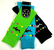 Maui and Sons Dress Socks, 3 Pair, Size 10-13, Multi Color