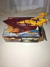 Vintage 1989 Hasbro GI Joe Cobra Piranha Boat - Incomplete With Box