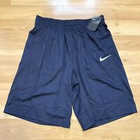 Nike Dri-Fit Fastbreak Basketball Navy Lined Shorts Size L Mens Loose Fit