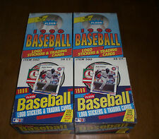 4 UNOPENED FLEER BASEBALL CARD BOXES - TWO 1988 & TWO 1990 BOXES