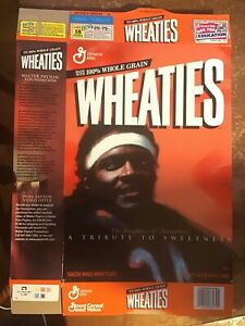 2000 Wheaties Walter Payton Football Cereal Box Tribute to Sweetness 24oz PC