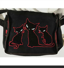Emily the strange black cat messenger bag book bag