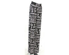 Palazzo Stretchable Pants in Black and White Tribal Print