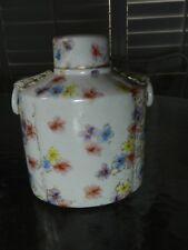 Antique Grainger Worcester 19th Century Flowers Floral Tea Caddy