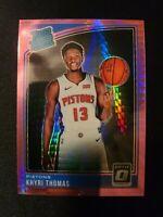 J25 Khyri Thomas 2018-19 Optic Rated Rookie Hyper Pink Prizm Card #173 Pistons