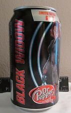 Limited Dr. Pepper Cherry Avengers Black Widow empty 12oz aluminum soda pop can
