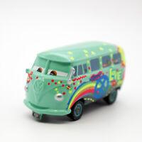 Disney Pixar Cars Fillmore Painted 1:55 Diecast Model Toy Car Loose Kids Gifts