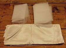 LOT Wedding fabric and Tulle pieces salvage cutters white sewing PA11