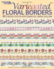 Tabla de puntada cruzada abigarrada Floral fronteras FOLLETO 40 Diseños Linda Gillum