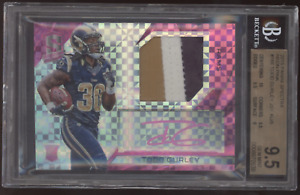 2015 Panini Spectra Todd Gurley Prizm Neon Pink Patch RC Auto /5 BGS 9.5 1/1