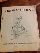 Vintage Sea Scout Monthly Magazine Publication The Water Rat Nov 1937 Original
