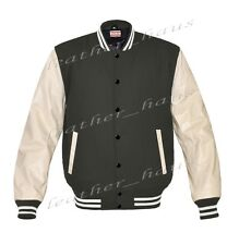 Genuine Leather Sleeve Letterman College Varsity Women Wool Jackets CRSL-WSTR-BB