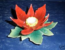 NIB - Franz FZ1989 Poinsettia Taper Candle Holder
