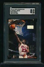 1993 Stadium Club #1 Michael Jordan Triple Double 1st Day Issue parallel SGC 8