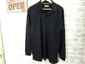 PING COLLECTION mans polyester top base polo black size L  T791