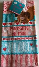 VALENTINE Kitchen Towel DOGS LEAVE PAW PRINTS ON YOUR HEART