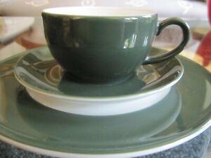 Dibbern Solid Color Kaffeegedeck 3tlg. eleganten Winterton russisch grün