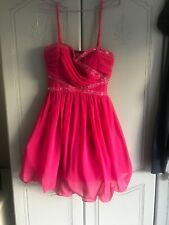 Little Mistress Size 10 Pink Party Dress Pre Owned