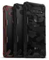 For LG V50 ThinQ | Ringke [FUSION-X] Clear Back Shockproof TPU Bumper Cover Case