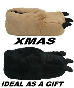 Mens Novelty Monster Claw Christmas Gift Indoor Winter Boys Slippers Size UK6-12