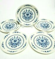 Sado Internacional Portugal Blue Floral Salad Dessert Appetizer Plates Set of 5