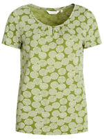 SEASALT Ladies GREEN Dotty Spot Citron Top Organic Cotton Decorative Art RRP £22