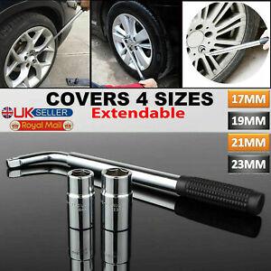 HEAVY DUTY Extendable Car Wheel Brace Socket Tyre Nut Wrench 17 19 21 23mm