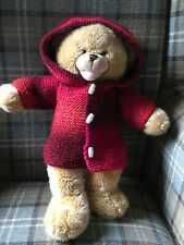 """Hand knitted teddy bear clothes - duffle coat 16"""""""