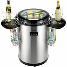 Party Flaschen Kühlschrank Kühlbox Edelstahl schwarz oder Edelstahl weiß