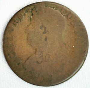 1787 (?) Colonial Copper Connecticut Bust Left Coin Attic Find Only Partial Date