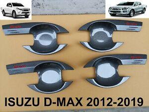 BOWL DOOR HANDLE COVER TRIM FOR ISUZU D-max Dmax Pickup Kevla carbon 2012-2019