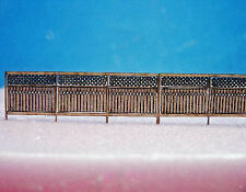 PRIVACY FENCE HO Scale Model Railroad Structure Unptd  Laser Kit RSL2506