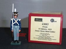 BRITAINS 43083 BLUECOATS US INFANTRY PRIVATE 1825 METAL TOY SOLDIER FIGURE